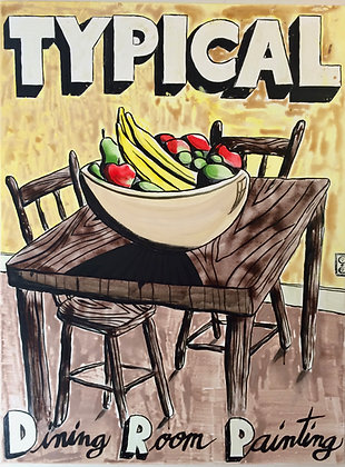 Print - Typical Dining Room Painting
