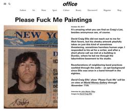 Office Magazine - Please Fuck Me Paintings