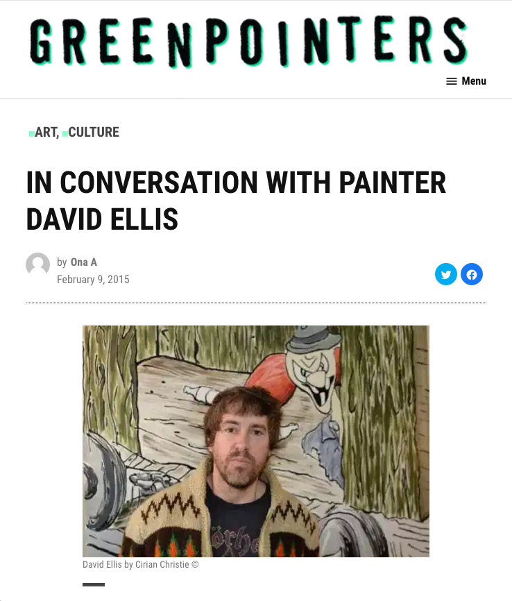 Greenpointers.com - In Conversation With Painter David Ellis
