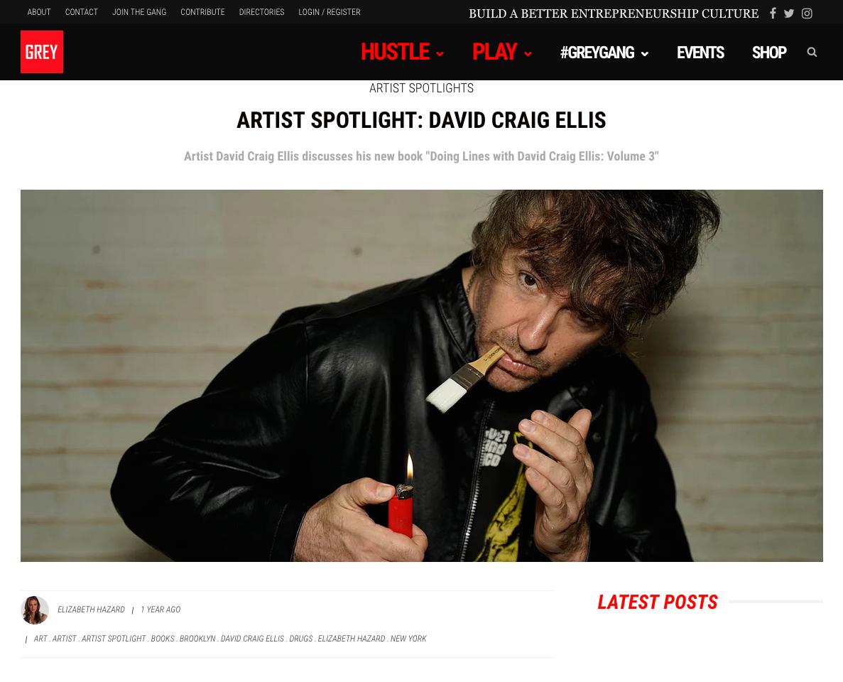 DiscoverGREY - Artist Spotlight: David Craig Ellis
