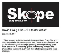 "Skope Magazine - David Craig Ellis - ""Outsider Artist"""