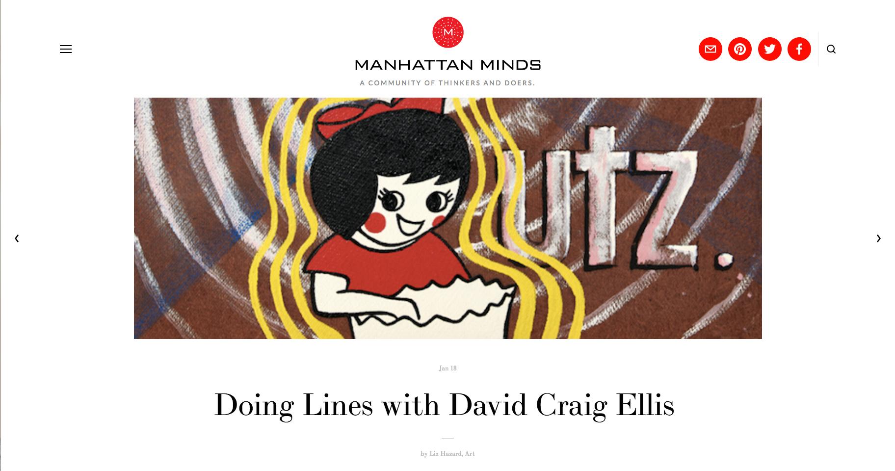 Manhattan Minds - Doing Lines With David Craig Ellis