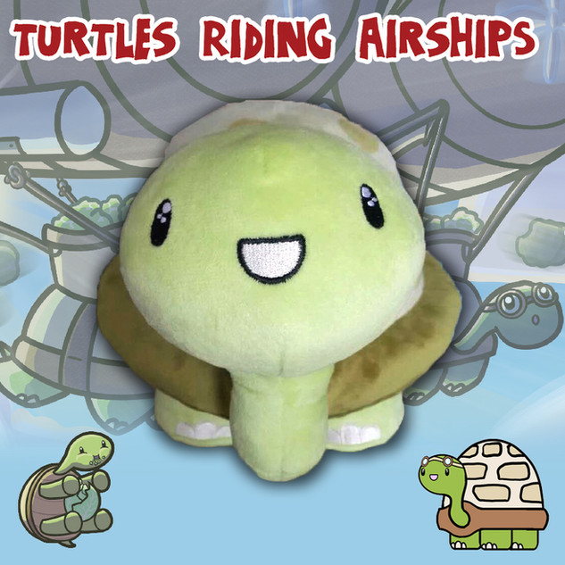 Turtles Riding Airships Plushie