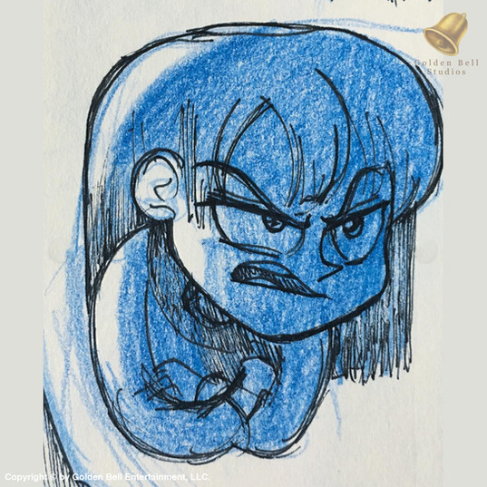 Angry Girl Sketch