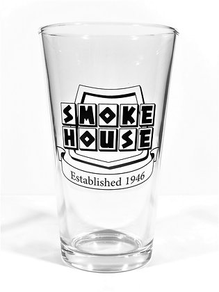 Pint Glass with Black Logo