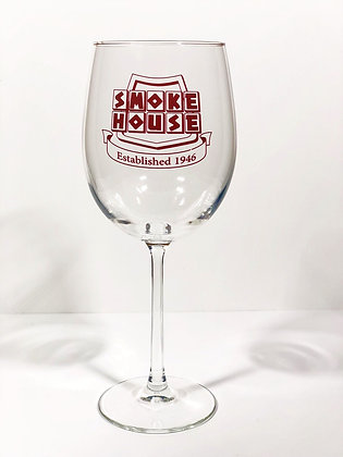 Wine Glass with Burgundy Logo