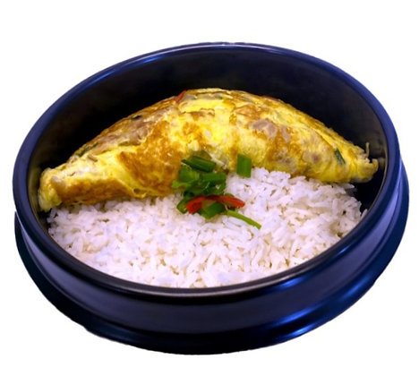 Onion Omelette Rice
