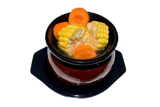 Sweet Corn Pork Ribs Soup with Rice 玉蜀黍排骨汤饭