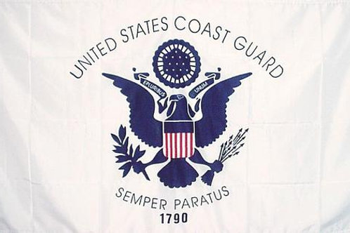 Coast Guard USCG Logo 3′ x 5′ Flag