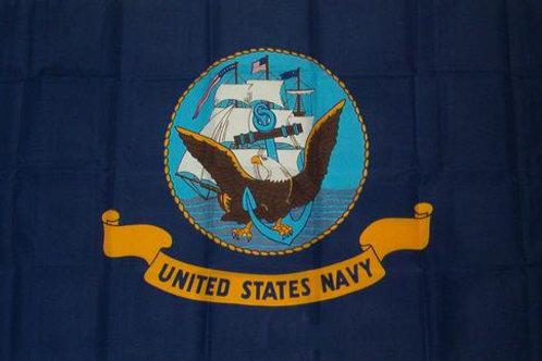 Navy USN Logo 3′ x 5′ Flag