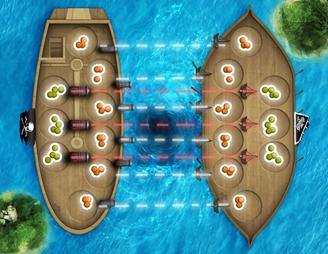 Pirates & Vikings based Mancala Game Board