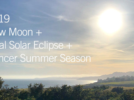 New Moon Total Solar Eclipse in Cancer