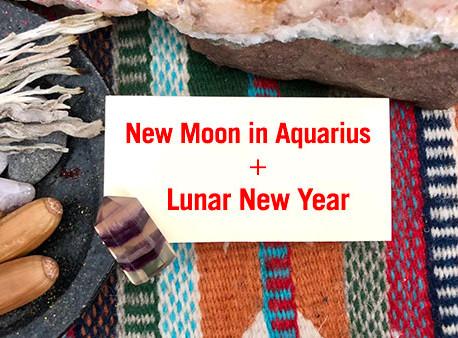 New Moon in Aquarius + Lunar New Year