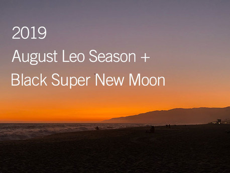 Black Super New Moon in Leo