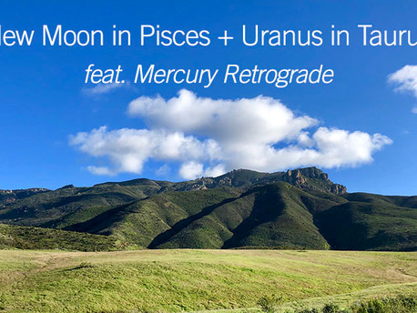 New Moon in Pisces + Uranus in Taurus