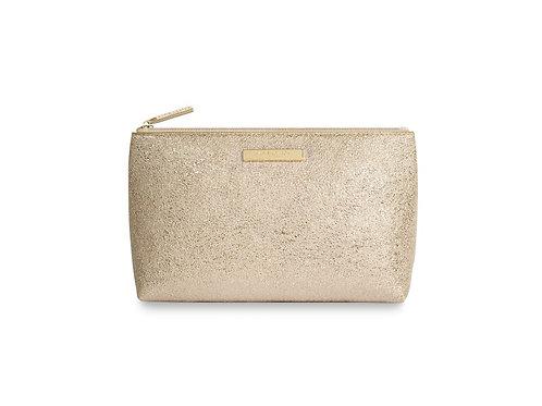 Katie Loxton Mia Metallic Gold Make-up Bag