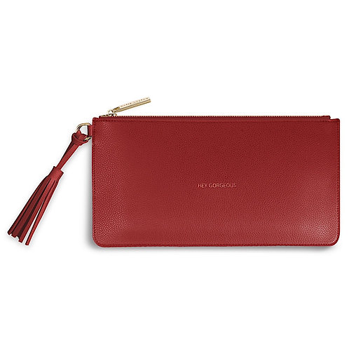 Katie Loxton Red 'Hey Gorgeous' tassel pouch