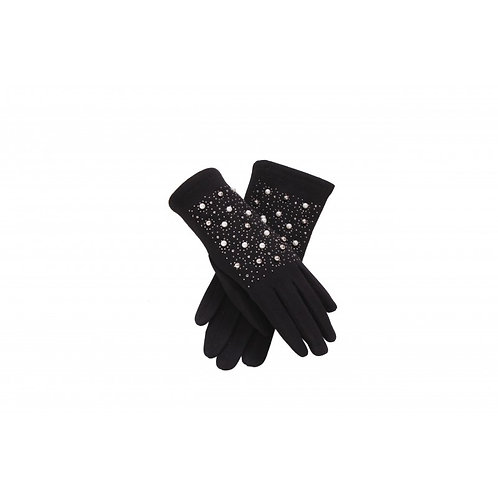 Black Pearl and Stud Gloves