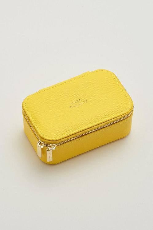 Estella Bartlett Mini Jewellery Box in vibrant yellow