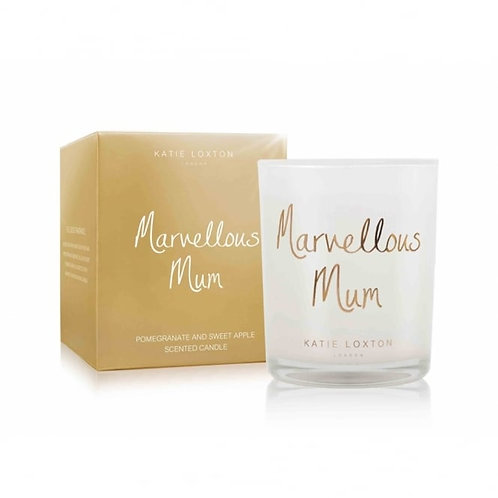 Katie Loxton 'Marvellous Mum' Pomegranate and Sweet Apple Candle