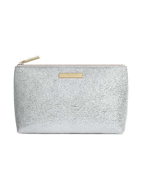 Katie Loxton Mia Metallic Silver Make-up Bag