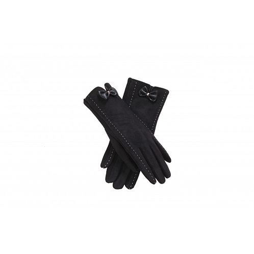 Black Faux Suede Gloves