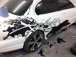 raf jag stage 3aa -grafitti