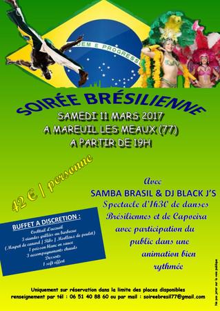 *** Venez avec vos amis à cette grande soirée brésilienne ! ***