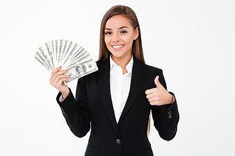 cheerful-business-woman-showing-thumbs-u