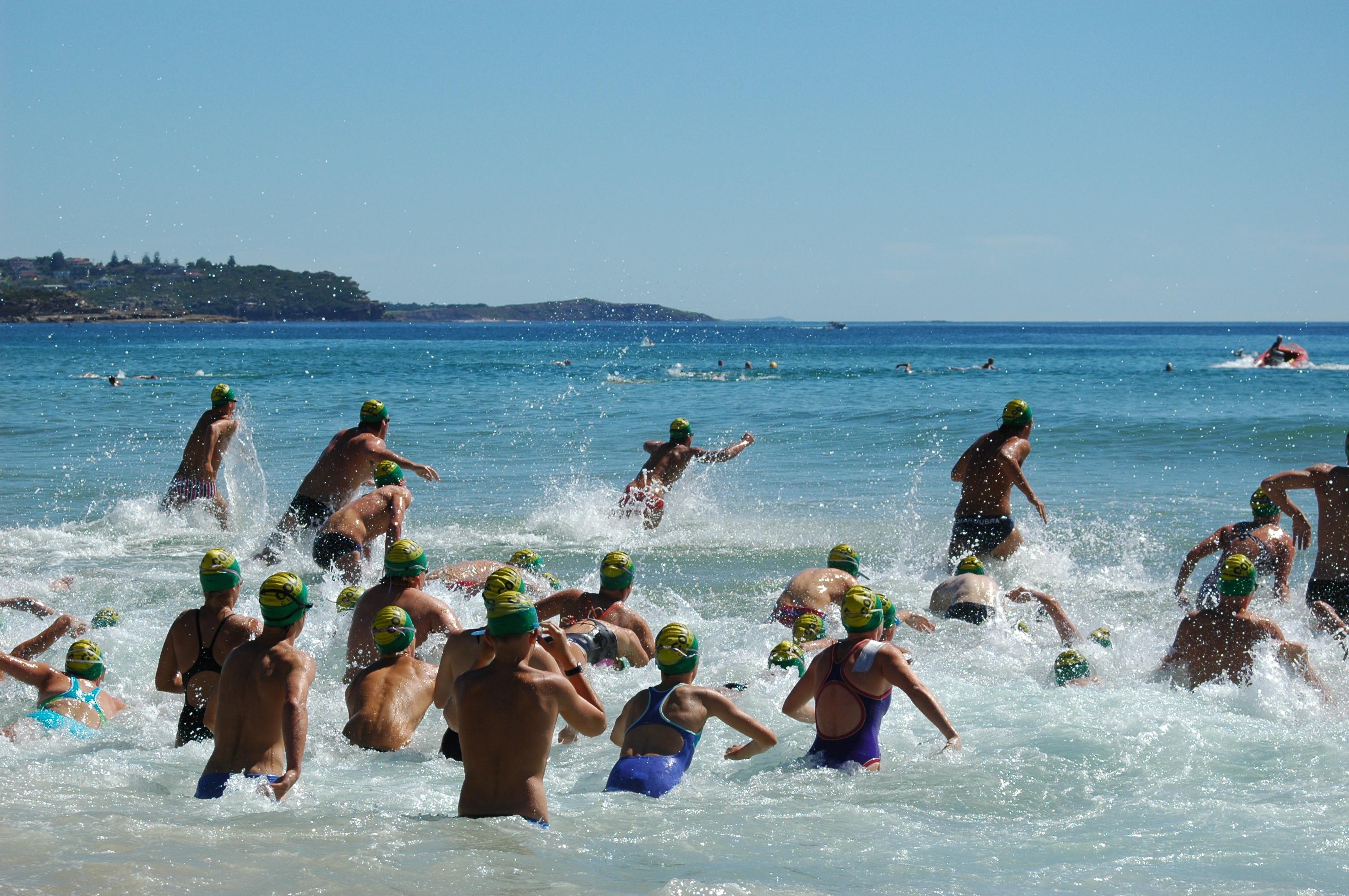 Surf swimming June 20