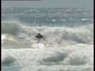 Body surf from the outer surf break