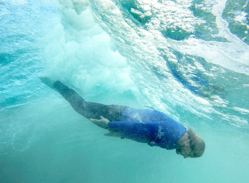How to body surf like a dolphin (underwater)