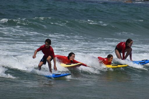 Our hands on surfing instruction method