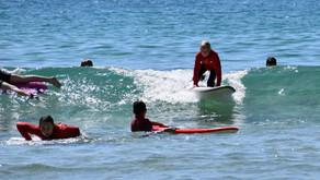 School holidays surfing begins
