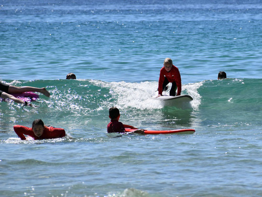School holidays surfing begins
