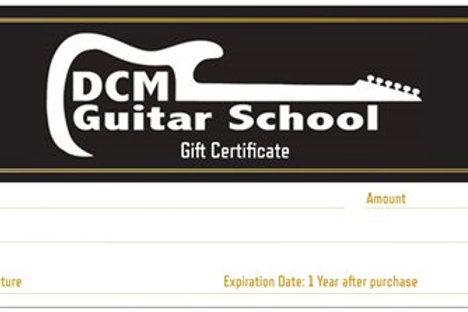 €100 DCM Guitar School Voucher