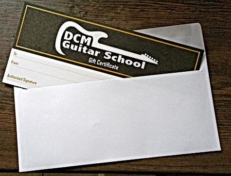 DCM Guitar School gift voucher