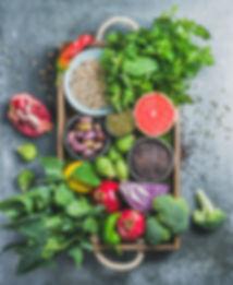 Vegan organic fresh food