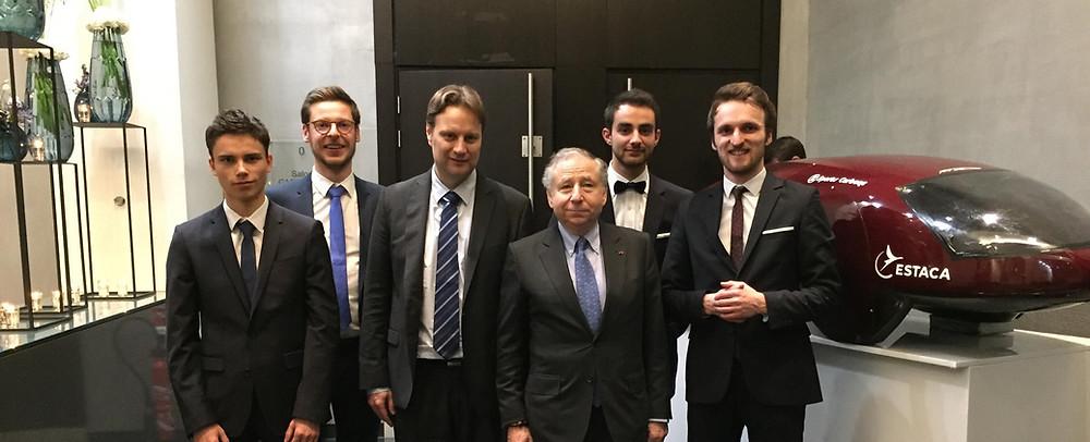 la PV3e avec Jean Todt, président de la Fédération Internationale de l'Automobile