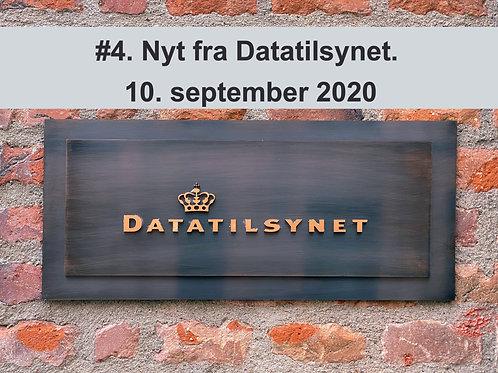 WEBINAR 4. Nyt fra Datatilsynet. 10. september 2020