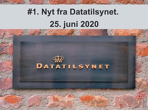 WEBINAR 1. Nyt fra Datatilsynet. 25. juni 2020M