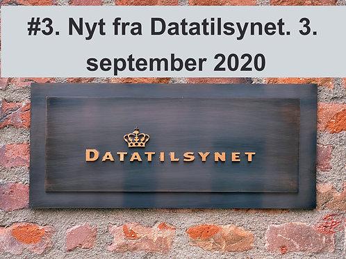 WEBINAR 3. Nyt fra Datatilsynet. 3. september 2020. OPLYSNINGS-FORPLIGTELSEN