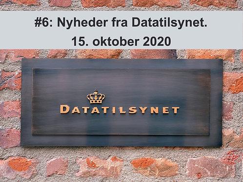 WEBINAR 6: Nyheder fra Datatilsynet. 15. oktober 2020