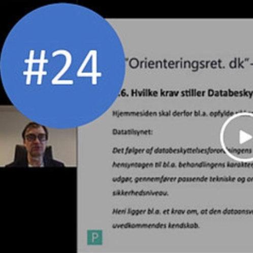 #24. Nyt fra Datatilsynet mv.: Orienteringsret.dk-sag. Webinar af 11/3-2021. BNO