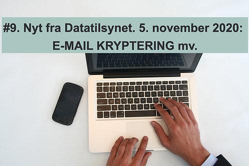 WEBINAR 9. Nyt fra Datatilsynet. 5. november 2020