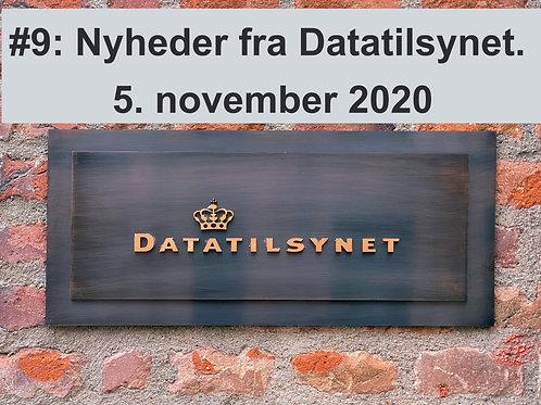 WEBINAR 9: Nyheder fra Datatilsynet. 5. november 2020