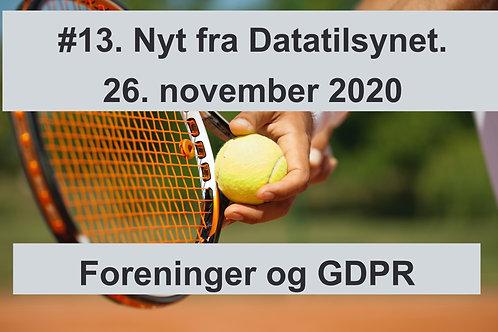 WEBINAR 13. Nyt fra Datatilsynet. 26. november 2020 M