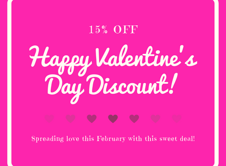 Celebrating February With A Sweet Discount!