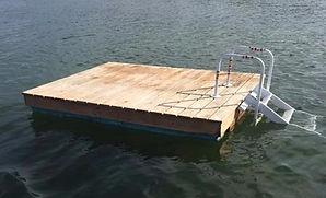 Swim raft, mooring, mooring inspection, mooring repair