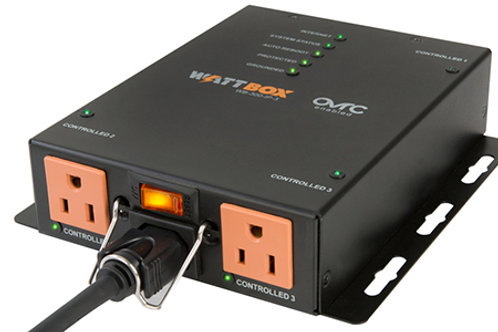 WattBox® IP Power Conditioner (Compact) with OvrC Home | 3 Controlled Outlets